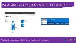 office 365 groups vs team