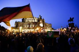 West German Flag Germany Thousands Rally At German Protest Against Refugees Islam