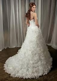 bargain wedding dresses uk buy cheap floral frilled organza strapless chapel wholesale
