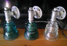 galvanized pipe and glass insulator wall sconce 9 steps with