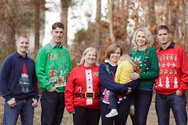 chattanooga family portrait session some tacky sweaters