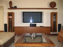 Custom Tv Stands Floating Notched Leg Media Console Tv Stand - Home tv stand furniture designs
