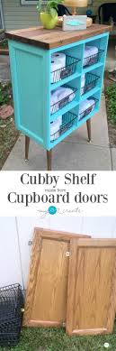 Repurpose Cabinet Doors Cubby Shelf Made From Cupboard Doors My 2 Create