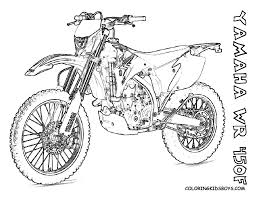 print coloring pages yamaha wrf dirt bike kids print
