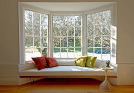 Outdoor Windows Decorating Bay Window Decorating Ideas Living Room Midcentury With Narrow