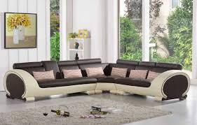 canapé d angle en cuir marron canapé d angle en cuir marron et crème 5 places brava teck in home