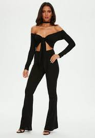 black jumpsuit sleeve sleeve jumpsuits missguided