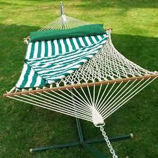 amazon com 13 ft cotton hammock w pad u0026 pillow set