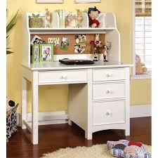 white desk with hutch and drawers furniture of america ruthie modern kids desk with hutch in white