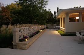Concrete Paver Patio Designs by Mid Century Modern Patio Ground One