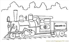 Steam Locomotive Coloring Pages Train Coloring Page 08 Coloring Page Free Land Transport by Steam Locomotive Coloring Pages