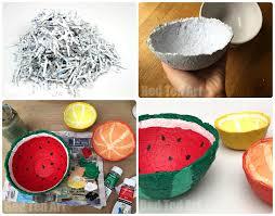 Paper Mache Ideas For Home Decor Shredded Paper Ideas Turn Your Shredded Paper Into Summer Fruit