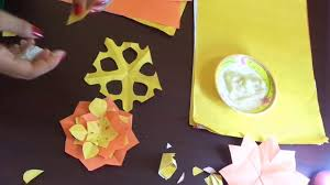 how to make flowers from colorful papers amazing craft video