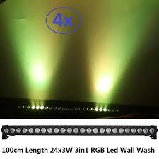 wall wash landscape lighting 4xlot new 24x3w rgb 3in1 dmx led wall wash light led washer