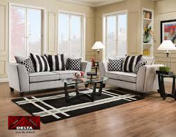 delta sofa and loveseat delta riley cement cougar black sofa loveseat set 4160 savvy
