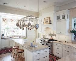 racks in kitchen kitchen transitional with hanging pot rack