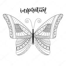 butterfly zentangle design with lettering u2014 stock vector m ion