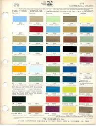 paint chips 1973 ford truck fleet commercial econoline club