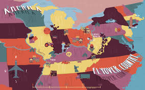 Usa Country Map by Flyover Country Illustrated Maps
