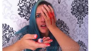 halloween room decor tutorial diy bloody eyeballs how to make