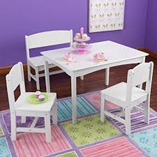 kidkraft nantucket 4 piece table bench and chairs set amazon com nantucket table with bench and chairs toys games