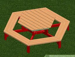 How Do I Build A Wooden Picnic Table by How To Build A Hexagon Picnic Table With Pictures Wikihow