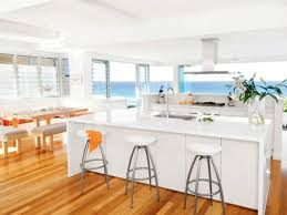 Beach Cottage Kitchen by White Beach House Kitchen Country Homes