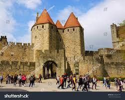 carcassonne carcassonne france april 5 2017 stock photo 633236141