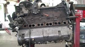 mercedes om617 mercedes turbo diesel om617 on engine stand