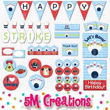 Bowling Party Decorations Bowling Birthday Party Printable Package Bowling Party