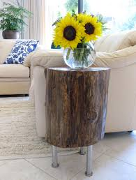 Tree Stump Nightstand Diy Tree Stump Table K Sarah Designs