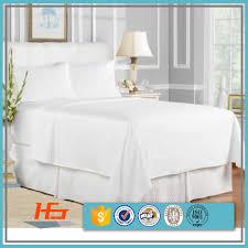 hotel plain white bed linen 100 cotton king flat sheets sets 4