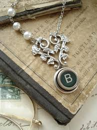 antique silver key necklace images Typewriter key jewelry letter b necklace vintage typewriter key jpg