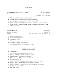 chiropractic resume examples of resumes chiropractic medical
