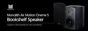 Refurbished Bookshelf Speakers Monolith Air Motion Cinema 5 Bookshelf Speaker Each Monoprice Com