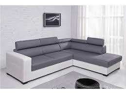 canapé d angle convertible gris canapé d angle convertible en simili et tissu waterproof gatien