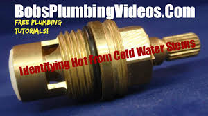 how to identify from cold water faucet stems youtube