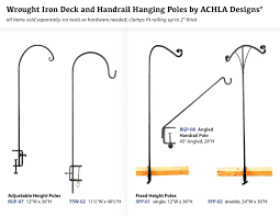 amazon com achla designs deck rail shepherd u0027s pole adjustable