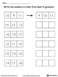 early childhood numbers worksheets worksheets comparing numbers