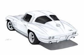 sports car drawing 1963 chevrolet corvette sting ray c2 drawing by vertualissimo on