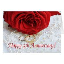 5th wedding anniversary cards invitations greeting photo