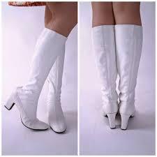 vintage womens boots size 11 27 white gogo boots for sobatapk com