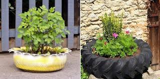 Craft Ideas For Garden Decorations - 24 creative ways to reuse old tires as a garden decoration