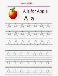 kindergarten worksheets printable tracing worksheet alphabet a a