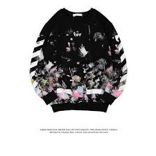 buy cheap off white colorful doodles black sweatshirt online at