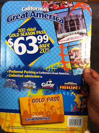 How Much Is A Six Flags Ticket At The Gate Costco California Great America Gold Season Pass 64
