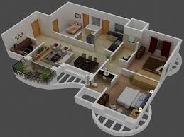 Small And Modern House Plans by 50 Three U201c3 U201d Bedroom Apartment House Plans Roommate Bedrooms