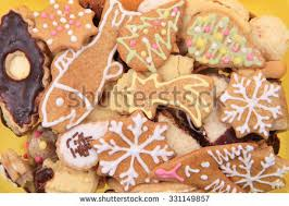 closeup christmas gingerbread cookies stock photo 144410095