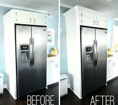 adding crown molding to cabinets kitchen cabinet refrigerator side panel refrigerator kitchen