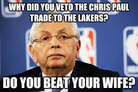 Chris Paul Memes - why did you veto the chris paul trade to the lakers do you beat